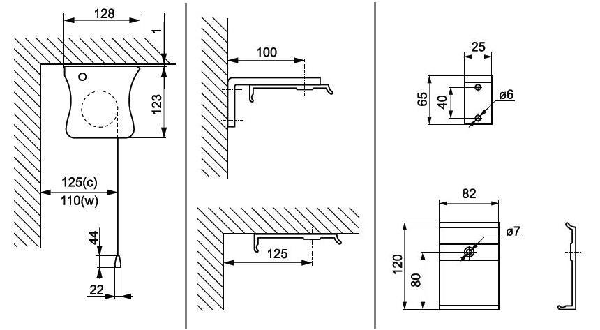 Pantalla proyección tensionada TENSIONE · Soportes / Fijación